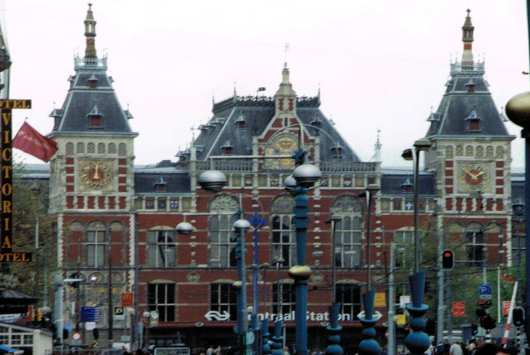 Central Station in Amsterdam