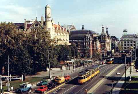 View of the Leidseplein from the Amsterdam Marriott
