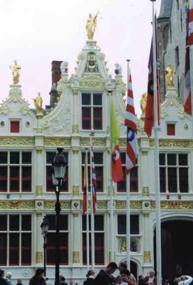 Ornate Belgian Building Near the Grand Place