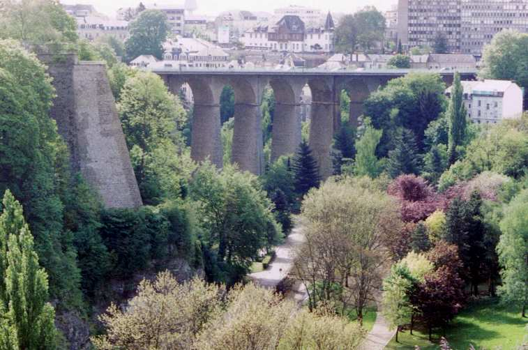 Passarelle Bridge Luxembourg circa 1860