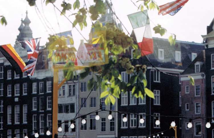 Flags in Amsterdam