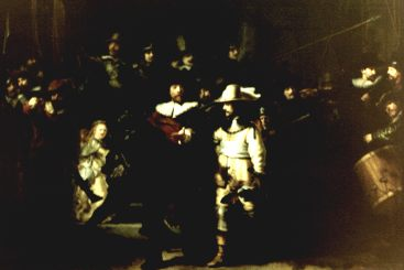 An Old Photo of Rembrandts Night Watch