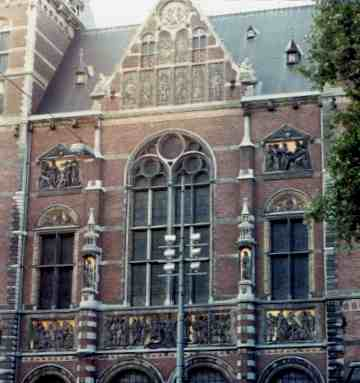 Side View Detail Of The Rijksmuseum