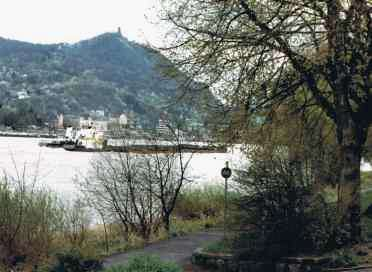 Shipping Traffic on the Rhine