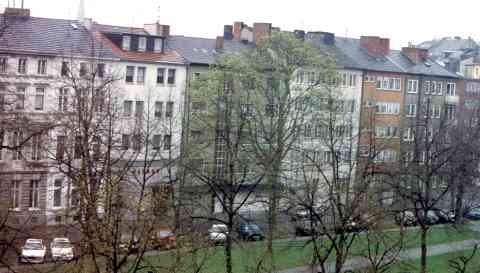 Five Story Walk-up Apartments in Dusseldorf