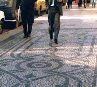 Mosaic Sidewalk in Lisbon