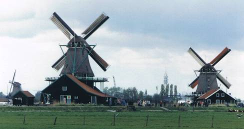 Windmills on the Dutch Dikes