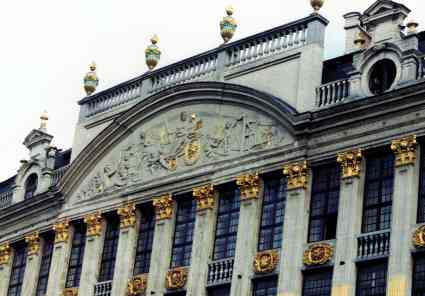 Golden Pediments On The Grand Place