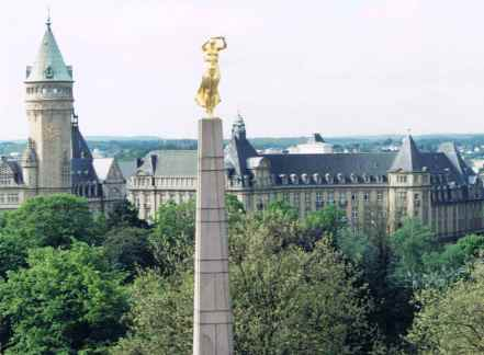 Birdseye View Of Luxembourg City