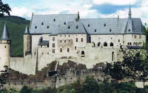 Vianden Castle in the Beautiful Ardennes