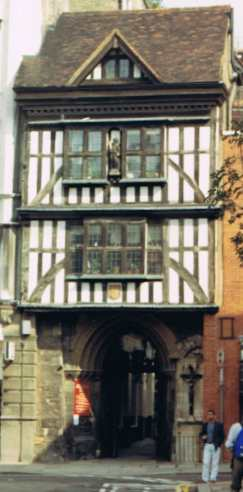 Half Timbered Alleyway House In London