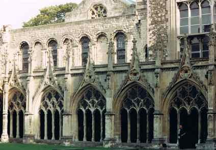 Peaceful Cloister in Cambridge