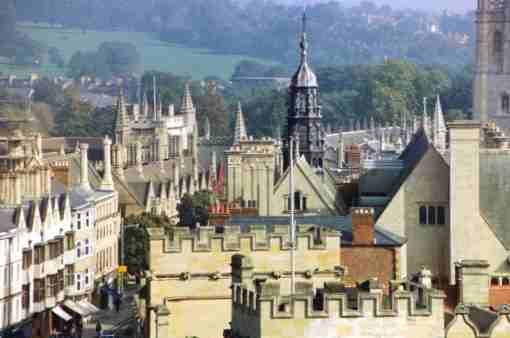 Dancing Rooftop Spires of Cambridge England