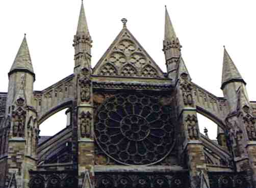 Birds Eye View of Westminster Abbey Buttresses