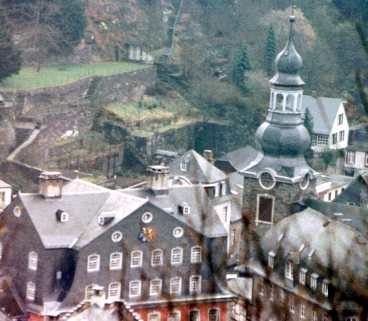 Looking Down On The Valley Town Of Monschau
