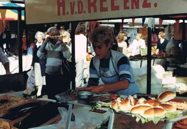 Herring Sandwhichs at the Street Market